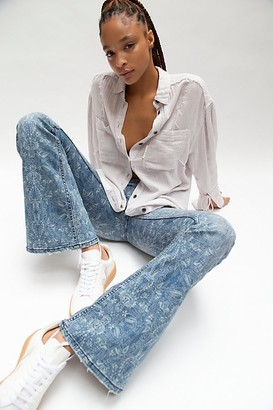 We The Free Penny Pull On Indigo Print Jeans