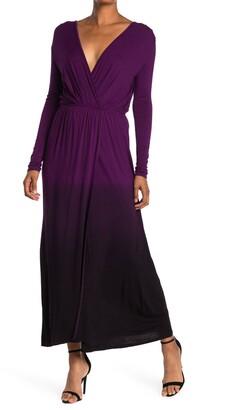 Fraiche by J Tie-Dye Long Sleeve Maxi Dress