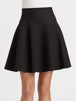 Seamed Fit and Flare Skirt
