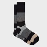 Paul Smith Men's Black Starlight-Stripe Socks