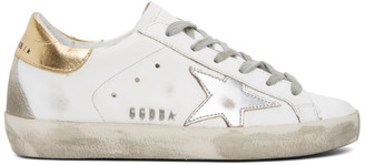 Golden Goose Silver and Gold Superstar Sneakers