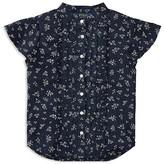 Ralph Lauren Girls' Floral Printed Ruffle Shirt - Little Kid
