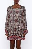 LoveRiche Floral Geometric Dress