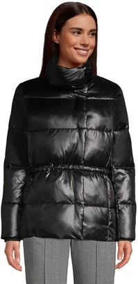 Lands' End Petite Quilted Wrap Down Jacket
