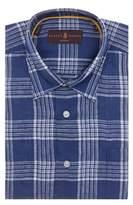 Robert Talbott Plaid Sport Shirt L