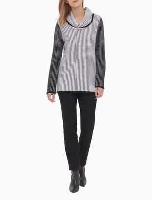 Calvin Klein Mixed Stitch Cowl Neck Pullover Sweater
