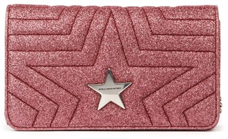 Stella McCartney Star Rose Quilted Fabric Crossbody Bag