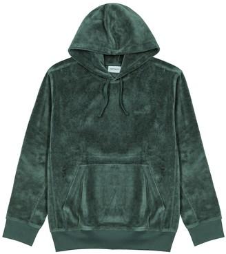 Carhartt Wip Green hooded velour sweatshirt