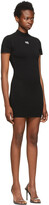 Thumbnail for your product : alexanderwang.t Black Logo Patch Bodycon Dress