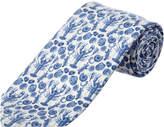 Cole Haan Blue Clam Bake Silk-Blend Tie