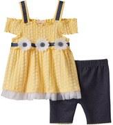 Little Lass Toddler Girl Cold-Shoulder Smocked Top & Shorts Set
