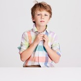 J.Crew Kids' Secret Wash shirt in pastel gingham