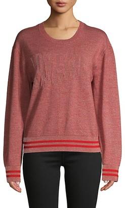 Rag & Bone Reflective Wool-Blend Pullover Sweater