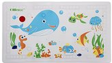 "Ollieroo Bath Mat For Kids PVC Cartoon No Slip Bathtub Shower Mat with Too Hot Indicator White 27.5"" X15.7"""