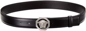Versace Octagonal Medusa Leather Belt