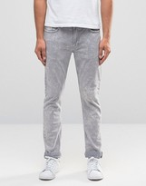 Celio Slim Fit Jeans In Washed Grey