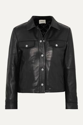Deadwood Net Sustain Frankie Leather Jacket - Black