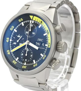 IWC Black Titanium Aqua Timer Chronograph Automatic IW371903 Men's Wristwatch 42 MM