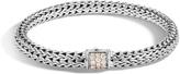 John Hardy Women's Classic Chain 6.5MM Bracelet in Sterling Silver with Diamonds