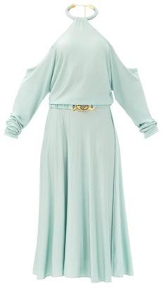 Dodo Bar Or Nina Halterneck Crepe Dress - Light Blue