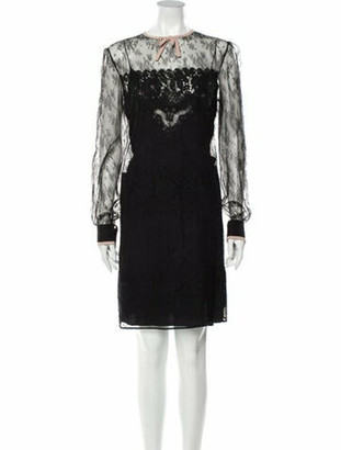 No.21 Lace Pattern Knee-Length Dress w/ Tags Black