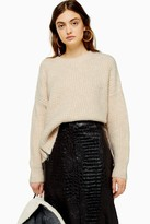 Topshop Oat Knitted Waffle Sweater