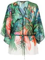 Roberto Cavalli Sheer Print Blouse