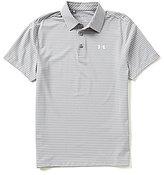 Under Armour Golf Playoff Heather Horizontal Stripe Polo Shirt