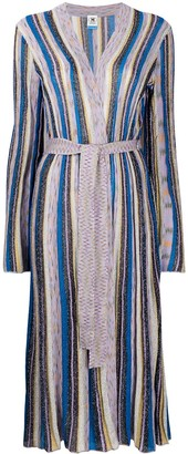 M Missoni Metallic Striped Robe