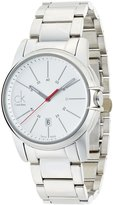 Calvin Klein Men's 'Select' Swiss Quartz Stainless Steel Casual Watch, Color:-Toned (Model: K0A21126)