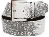 Oscar de la Renta Embossed Leather Belt