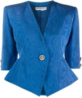 Saint Laurent Pre Owned 1980s optic effect structured blazer