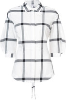 Derek Lam 10 Crosby Long Sleeve Shirt with Lace Up Back