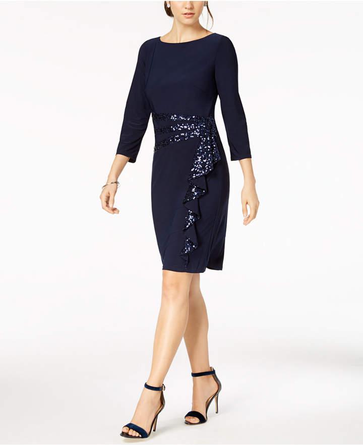 Petite Cascading-Ruffle Dress