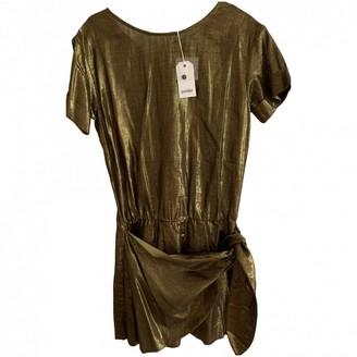 Polder Metallic Cotton Dress for Women