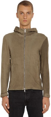 Giorgio Brato Hooded Leather Sweat Jacket