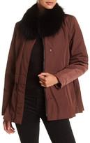 Elizabeth Roberts Detachable Genuine Fox Fur Collar Jacket