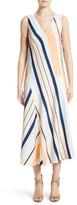 Lafayette 148 New York Women's Divinity Stripe Midi Dress