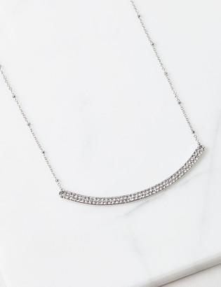 Lane Bryant Sparkling Curved Bar Necklace