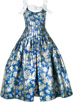 DELPOZO floral ballon-bottom dress - women - Silk/Cotton/Polyester - 38
