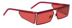 HUGO BOSS Rectangular sunglasses in red with tonal spoilers