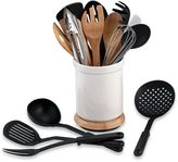Denmark Rotating 17-Piece Utensil Crock Set