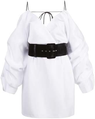 Rasario cold shoulder belted dress