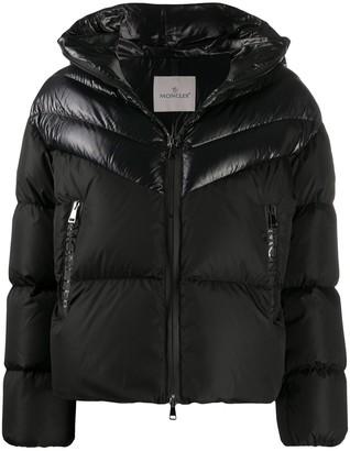 Moncler Shiny Panelled Puffer Jacket