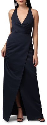 Jay Godfrey Kingston V-Neck Wrap Gown
