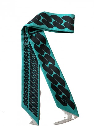 Hermes Twilly 86 Blue Silk Scarves
