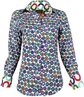 Lalipop Design Lycra Cotton Printed Shirt Evil Eyes