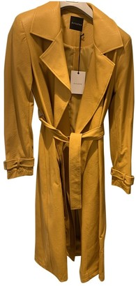 Non Signé / Unsigned Non Signe / Unsigned Yellow Trench Coat for Women