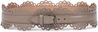 Alaia Laser-cut leather belt
