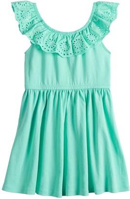 Toddler Girl Jumping Beans Eyelet Ruffle Dress